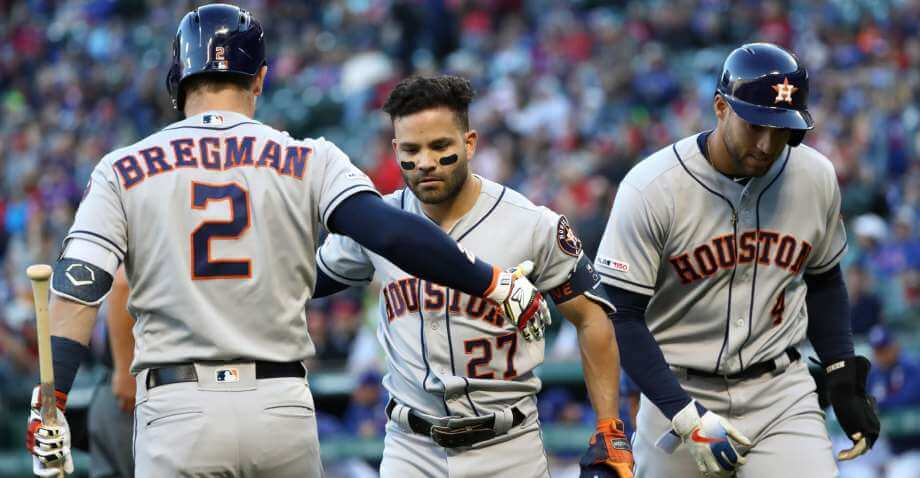 Astros in Houston Playing For Company