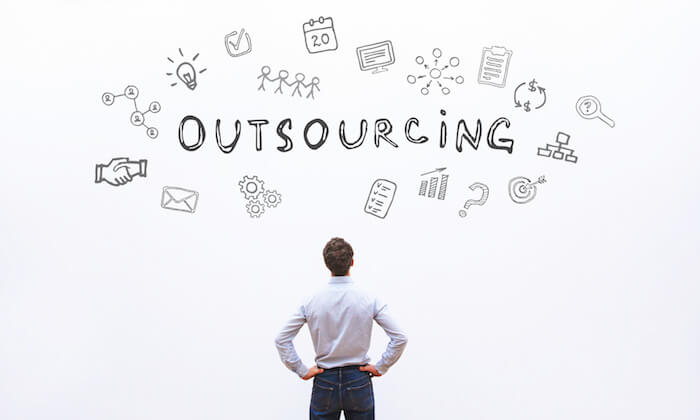 Visualize Outsourcing Questions Whiteboard Simmio